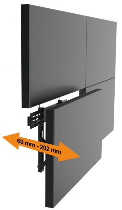 """Sbox LVW02-46F Video Wall Fixed Mount 37""""-70"""" Black"""