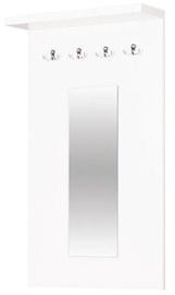 Bodzio Clothes Hanger With Mirror Panama White