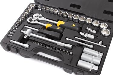 """Sukimo įrankių rinkinys Forte tools 217008/218013, 8-24 mm, 1/4"""", 52 vnt."""