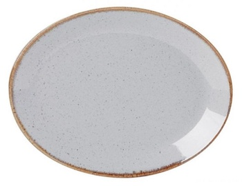Porland Seasons Oval Dinner Plate 31x23.7cm Grey