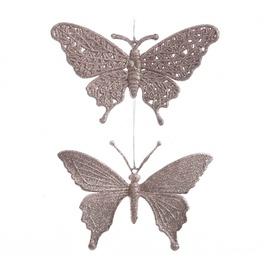 Jõulupuu ehe 518622 Butterflies, 1 tk