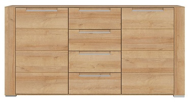 Black Red White Dinaro II Chest Of Drawers 41x170x87cm Oak