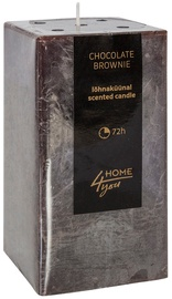 Home4you Candle Chocolate Brownie 7.5x7.5xH15cm
