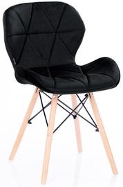 Homede Silla Chairs Velvet 4pcs Black