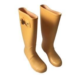 Moteriški guminiai batai, su aulu, geltoni, 41 dydis