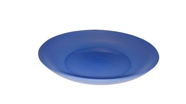 Plastikinė lėkštė, tamsiai mėlyna, 17 cm