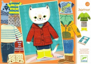 Djecoi Wooden Dress Up Cat JojoTricot DJ01696