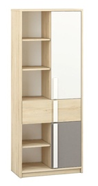 ML Meble Drop 03 Shelf Beech/White/Dark Grey