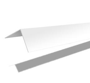 Nurgaliist PVC C50 50X50 mm 2.7 m valge
