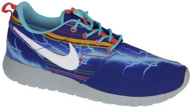 Nike Running Shoes Roshe One Print Gs 677782-401 Blue 39