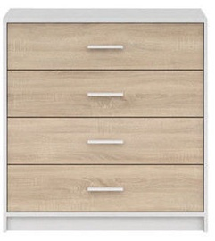 Black Red White Nepo Plus Drawer White/Sonoma Oak