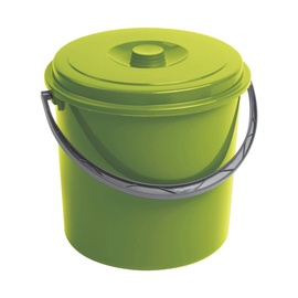 Curver Bucket With Lid 16L Green
