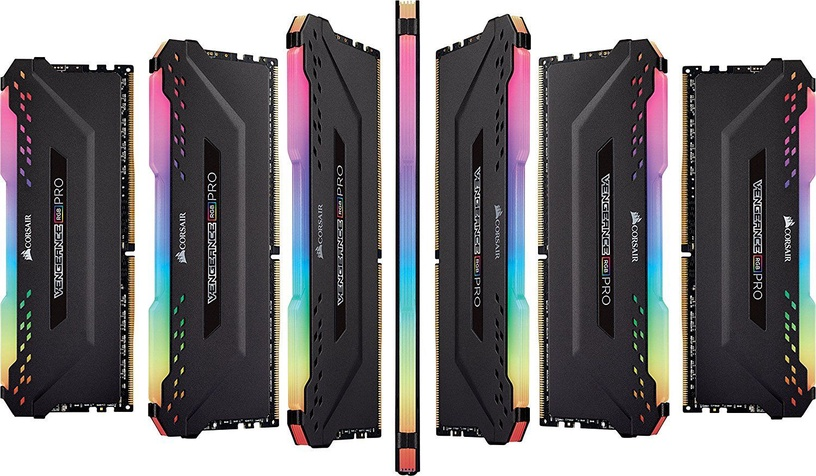 Corsair Vengeance RGB Pro Black 16GB 3200MHz CL16 DDR4 KIT OF 2 CMW16GX4M2C3200C16