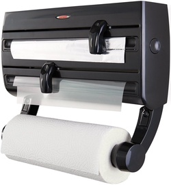 Leifheit Roll Holder Wall-Mounted Black Parat F2 25777
