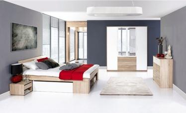 Guļamistabas mēbeļu komplekts Szynaka Meble Milo, ozola