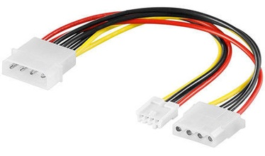 Goobay PC Y Power Cable Molex Female To Molex Male+Floppy 0.15m