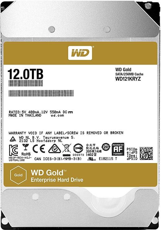Western Digital Gold 12TB 7200RPM 256MB WD121KRYZ