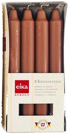 Eika Crown Candles Brown 8pcs
