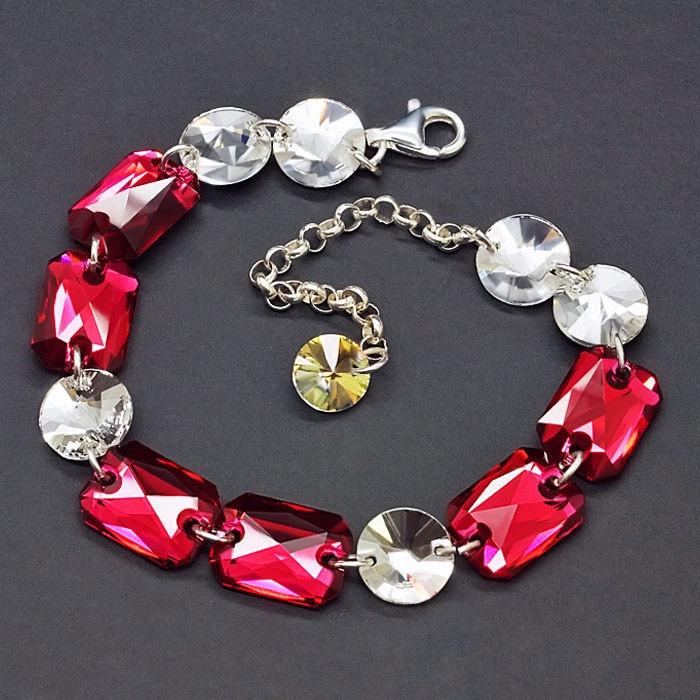 Diamond Sky 925 Sterling Silver Bracelet Grace IV Scarlet