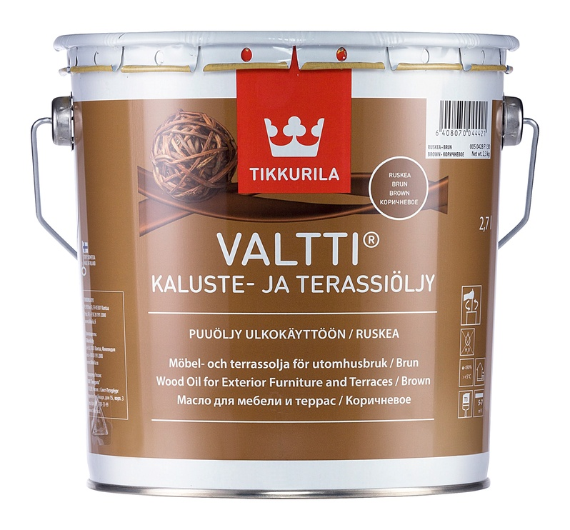 Medienos aliejus Tikkurila Valtti Kaluste, rudas, 2.7 l