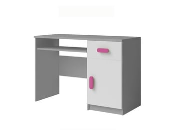Idzczak Meble Smyk II 08 Writing Desk White/Grey/Pink