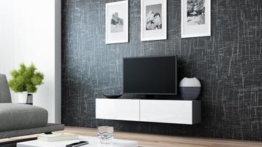 TV staliukas Cama Meble Vigo 140 Grey/White Gloss, 1400x300x400 mm