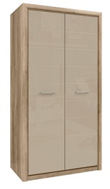 Skapis Black Red White Koen 2 Oak/Grey Sand, 103.5x56.5x200 cm