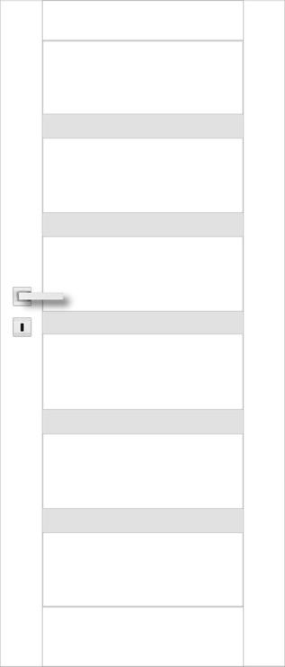 Полотно межкомнатной двери PerfectDoor FRESNO 01, белый, 2035 см x 644 см x 4 см