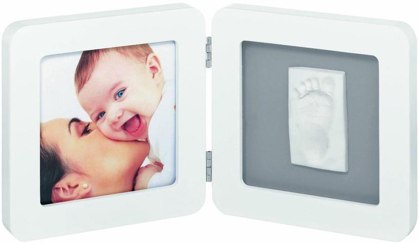 Baby Art Double Print Frame White & Grey