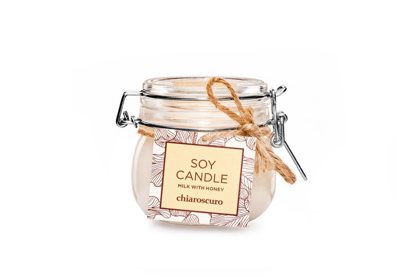 Ароматическая свеча Mondex Soy Candle Milk With Honey, 130 мл