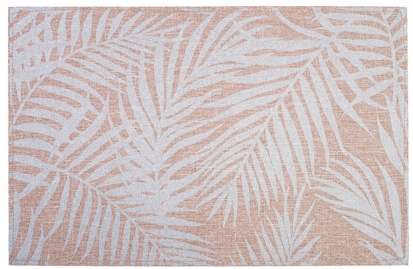 Home4you Linen 30x45cm White Leaves