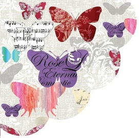 Paw Decor Collection Romantic Butterflies 32cm