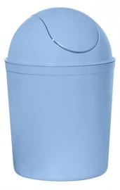 Plast Team Swing Round Waste Basket 21.3x21.3x31.5cm 5l Blue