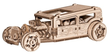 3D mīkla Wooden City Model Hot Rod, 141 gab.