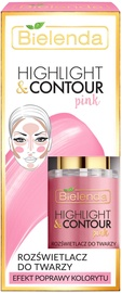 Bielenda Highlight & Contour Face Brightener 15ml Peach - Pink