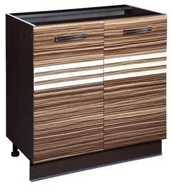 DaVita Rio 16.60 Kitchen Bottom Cabinet Wenge Oak/Brown