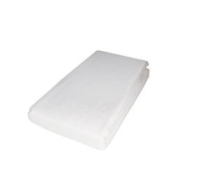 Paklodė Domoletti Satin white, su guma, satino medvilnės, 200 x 160 cm