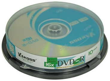 Vakoss DVD-R 4.7GB 16x 10pcs DVR-47S10C16
