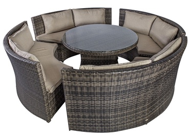 Home4you Veneto Garden Furniture Kit Dark Brown