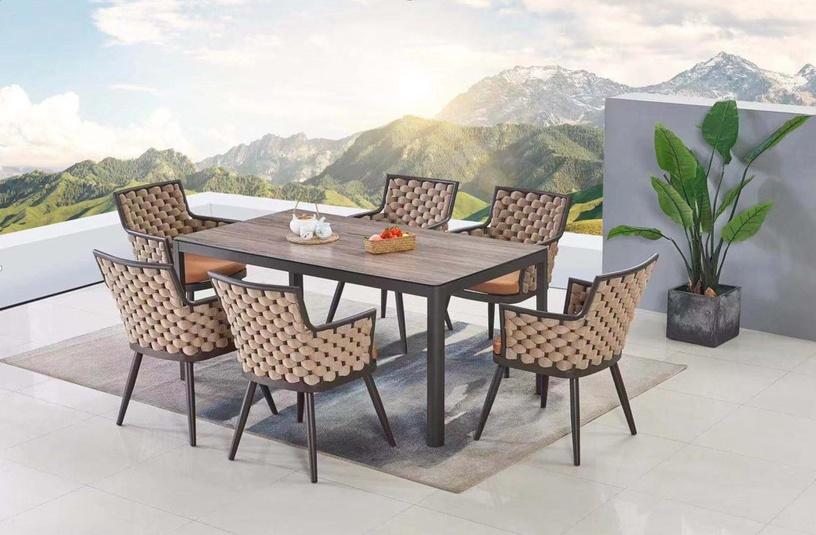 Sodo baldų komplektas Masterjero 123+126, rudas, 1-6 vietų