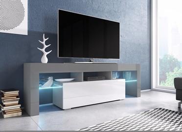 TV galds Cama Meble Toro 138, balta/pelēka, 1380x400x410 mm