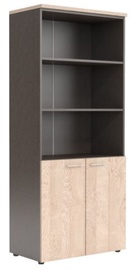 Skyland XTEN Office Cabinet XHC 85.5 Tiara Beech/Dark Wood