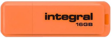 USB atmintinė Integral Neon Orange, USB 2.0, 16 GB