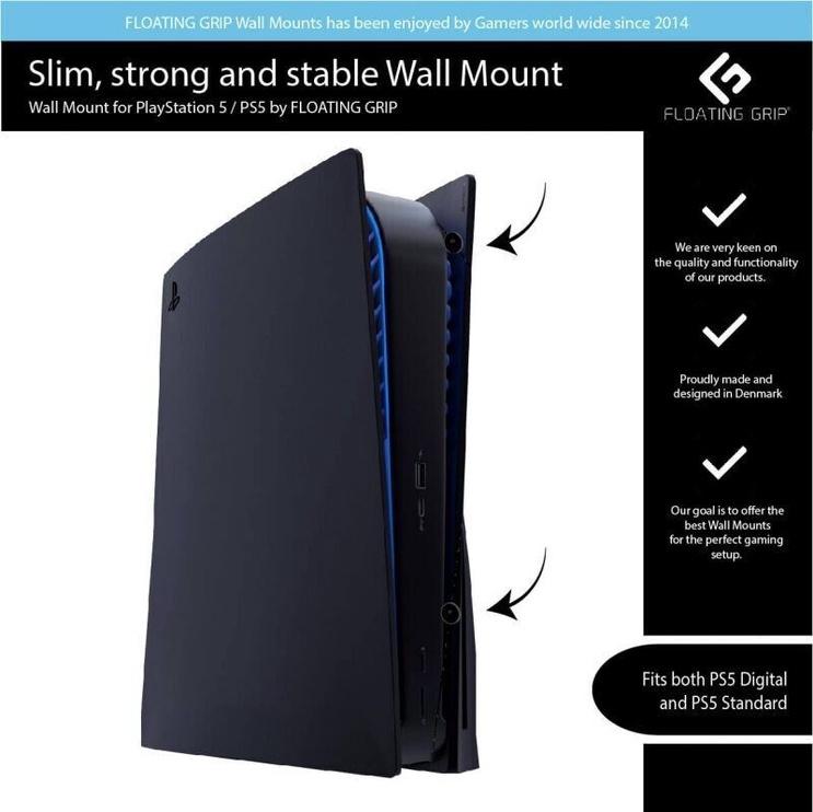 Аксессуар Floating Grip PS5 Wall Mount Black