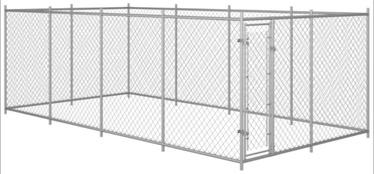 Koerapuur VLX Outdoor Dog Kennel Silver, 7600x3800x1900 mm