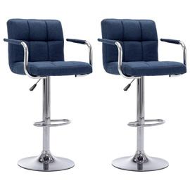 Bāra krēsls VLX Fabric 283423, zila, 2 gab.