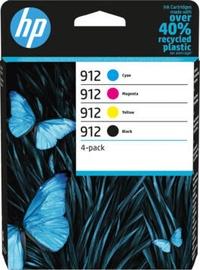 Кассета для принтера HP 912 4-Pack, черный/желтый/голубой/фуксия (magenta)