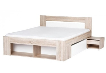 Szynaka Meble Milo Bed 140x200cm With 2 Bedside Cabinets