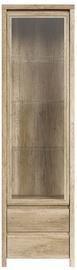 Black Red White Glass-Door Cabinet Kaspian REG1W2S Oak