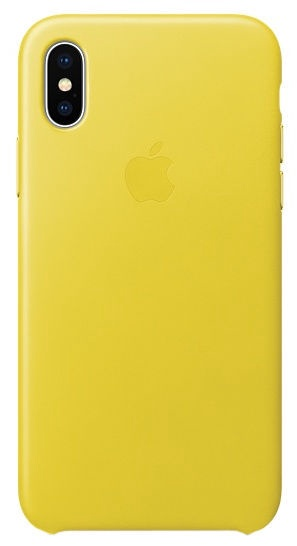 Apple Leather Back Case For Apple iPhone X Spring Yellow